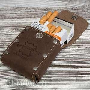 handmade etui skórzane na papierosy wersja slim i klasyczne, papierośnica