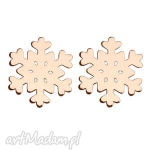 prezenty na święta kolczyki śnieżynki z różowego