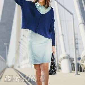 Sweter luźny z dużym dekoltem swetry hermina damski, sweter