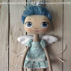 szarotka anioŁek lalka - dekoracja tekstylna, ooak one of a kind, aniołek