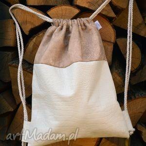 bbag nude elegancki plecak skórzany, plecak, torba, elegancki, pracy