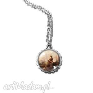 medalion, naszyjnik - medytacja - mały - naszyjnik, medalion, wisiorek, kamea