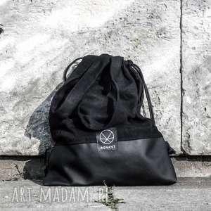 torba worek konopny 2w1 black hemp, worek, praktyczna torba, czarny