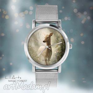 zegarek, bransoletka - sarna magic forest, bransoletka, sarna, leśny