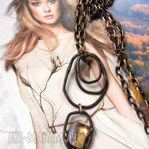 handmade naszyjniki naszyjnik: koła z cytrynem