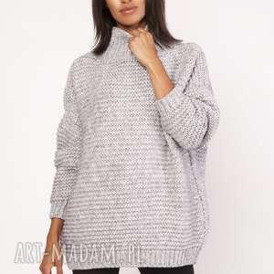 sweterek - golf, swe116 szary, sweter, sweterek, ciepły, oversize, casual