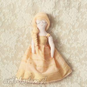 brzoskwiniowa bajka - lalka morela, lalka, szmacianka, księżniczka, morelowa