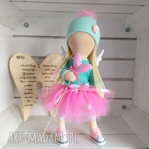 Lalka szmacianka na prezent chrzest kolekcjonerska lalki