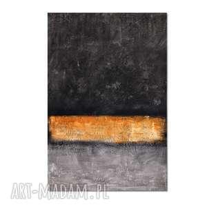 Bar of Gold, abstrakcja, nowoczesny obraz ręcznie malowany,