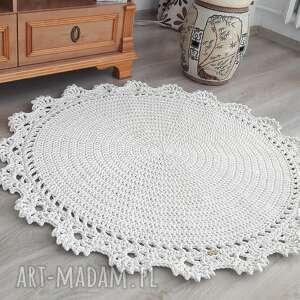 dywan classic lace, dywan, okrągły szydełkowy, klasyczny wzór