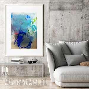 Pastelowa dom galeria alina louka abstrakcja obraz, błękitna