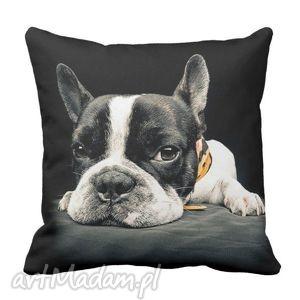 ręcznie robione poduszki poduszka buldog francuski pies dog 6222