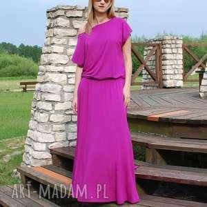 sukienki długa dzianinowa sukienka z kieszeniami
