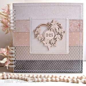 hand-made scrapbooking albumy album komunijny/25x25cm