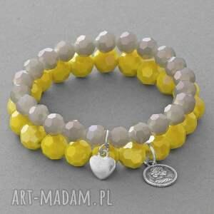 sunflower & labradorite crystals with pendants - kryształki, serce