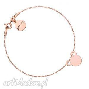 ręczne wykonanie bransoletka z różowego złota myszką