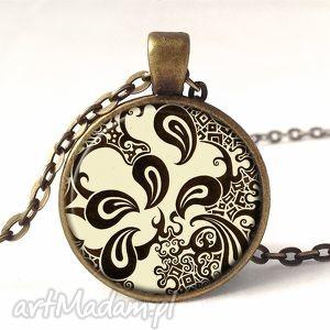 kawowa inspiracja - medalion z łańcuszkiem - elegancki, prezent