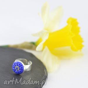 oryginalny romantyczny pierścionek w kolorze ciemnoniebieskim - 2404, kobalt