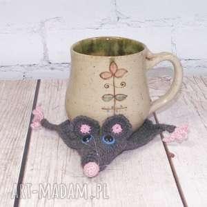 pomysł na prezent pod choinkę szczurek podkładka kubek, szczur, szczurek, kubek