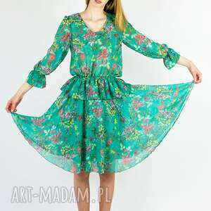 Sukienka 2 w 1 - komplet bluzka i spódnica sukienki rustic city