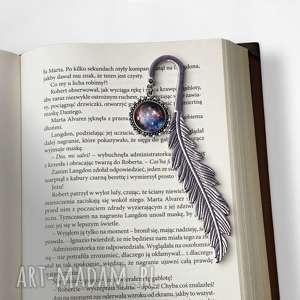 Zakładka do książki z kosmosem, zakładka, czytania, książki, kosmos, galaktyką