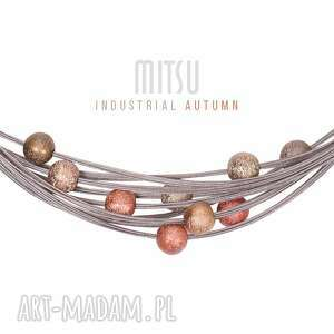 Komplet Industrial Autumn , brązy, jesienne, eleganckie, komplet, linki