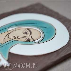 Ikona ceramiczna z wizerunkiem Maryi - Pneumatofora, ikona, obraz, maryja, rękodzieło