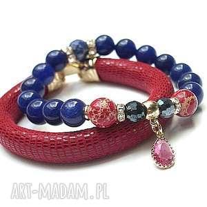 ki ka pracownia strap - red and navy blue duo vol 2 01 09 16 , skóra, rzemień