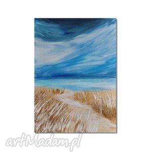 pejzaż morski 2, nowoczesny obraz ręcznie malowany, morze, pejzaż, nowoczesny
