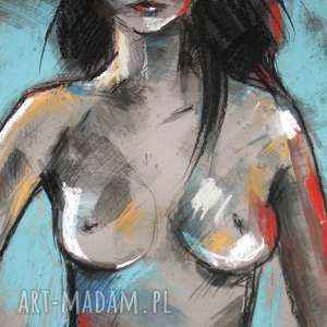 Shaun - akt 50x70 cm, akt, radzka, kobieta, rysunek, unikat, design