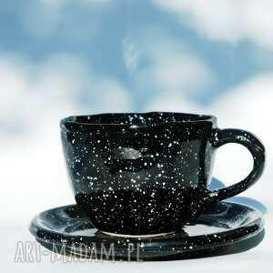 kubek galaktyczny jumbo z talerzykiem, galaxy, kawa, herbata, wyjątkowy, motyw