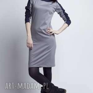 hand-made sukienki sukienka, suk115 szary