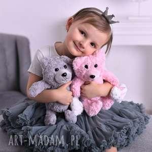 Przytulanka dziecięca miś serduszko z imieniem maskotki