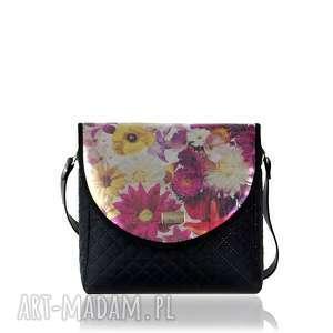 torebka puro 555 garden black, puro, klapkomania, kwiaty