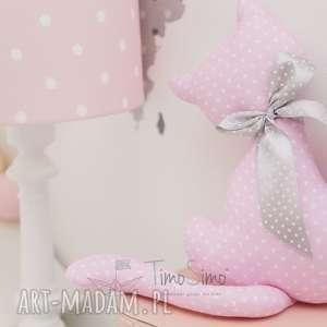 przytulanka kotek milan różowy - bawełna