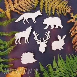 przypinka do nerki zwierzątka lasu, pin, przypinka, las, góry, drewno, lis