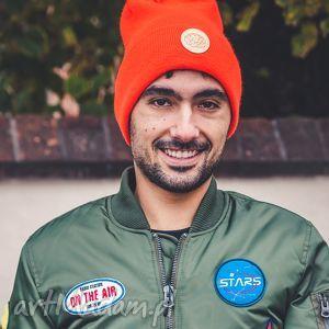 czapki mechaniczna pomarańcza sport, jesień, zima, czapka