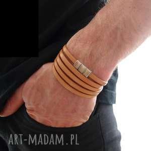 hand made męska bransoletka skórzana sevde / skóra - rzemienie