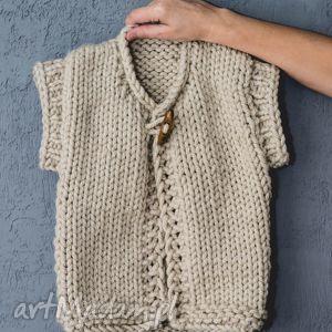 KAMIZELKA WEŁNIANA DZIECIĘCA, kamizelka, dziecięca, sweter, wełniana, gruba