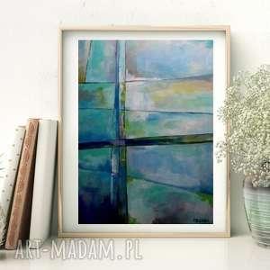 obraz na płótnie - abstrakcja w szarościach 40/60 cm, abstrakcja, obraz, akryl