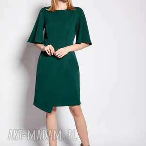 sukienka dopasowana, suk187 zielony, mini, elegancka, wyjsciowa, na wesele