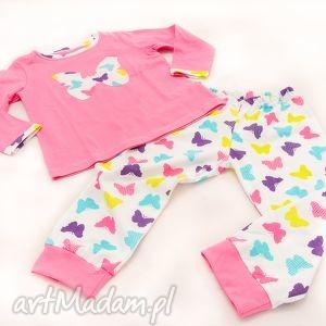 ubranka sweet dream - piżamka motylkowe łaskotki, piżamka, dziewczęca, różowa
