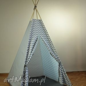 pokoik dziecka teepee szare a - namiot do dmu lub ogrodu, tipi, namiot, domek