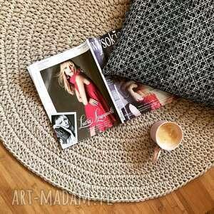 okrągły dywan ze sznurka bawełnianego, dywan, sznurka
