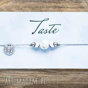 WHW Taste Magnesite, sznurkowa, sznureczkowa, delikatna, makrama, magnezyt, kamienna