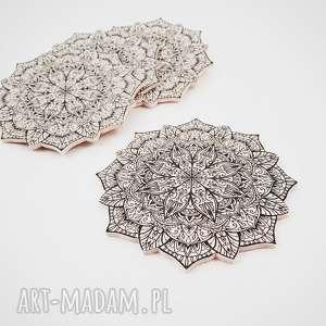 Podkładka Mandala kpl. 4 szt., mandala, decoupage, podkładka, kubek, orient, etno