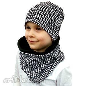 czapka z kominem dla chłopca - szalik, kominy, czapki