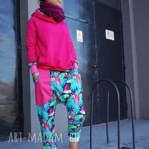 spodnie damskie papugi - baggy pants joggery, dresowe, dres damski