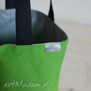 lunchbag by wkml zielona - szara kratka, śniadanie, kanapki, lunch