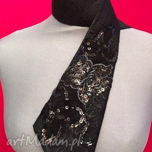 krawat damski izabella, krawat, damski, koronka